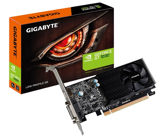 Gigabyte nVidia GeForce GTX 1030 2GB Low Profile PCIe 3.0x4 Vide
