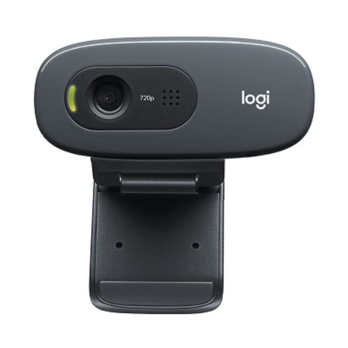 Logitech C270 3MP HD Webcam 720p/Built in Mic/Light Correc/IM co